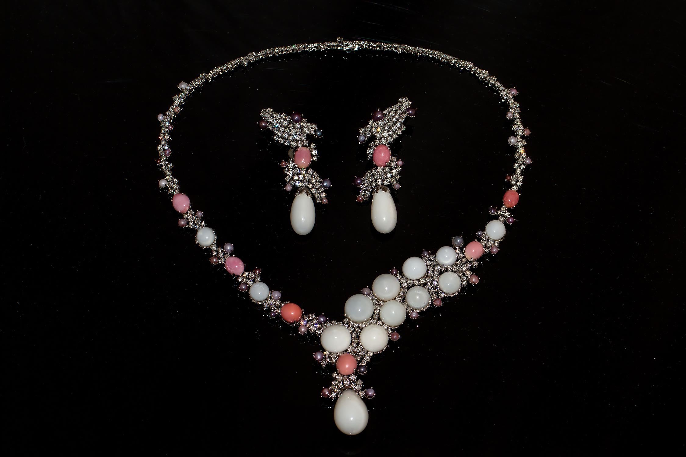 Haute joaillerie parure natural pearls - Shanghai Gems
